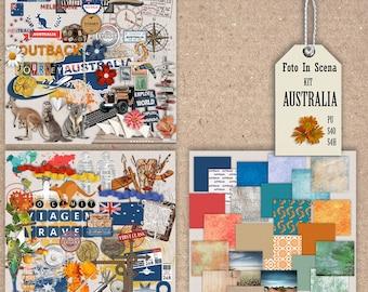 Digital kit AUSTRALIA,travel, outback, kangaroo