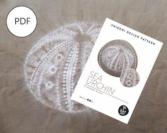 Shibori Sea Urchin, PDF Sewing Pattern, Digital Download, Shibori PDF Pattern,  Stitched Shibori Pattern