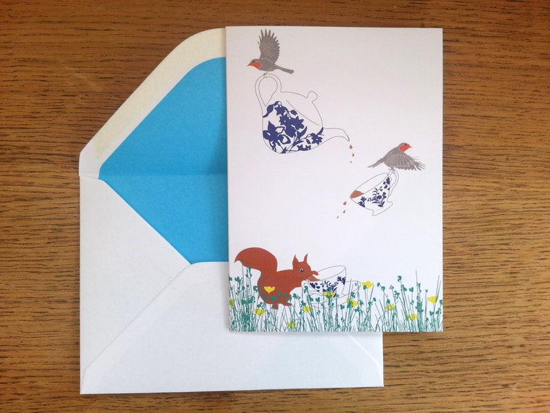 Cute Woodland Card Birthday Card gift for her Adorable image 0