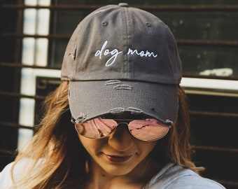 a0280c5a0 Dog mom hat | Etsy