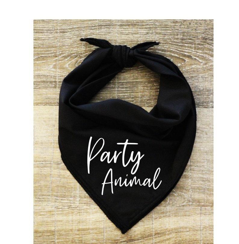 Birthday Party Funny Dog Bandana Color Options Sizes Small Medium Large-Party Animal