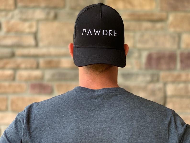 Pawdre Dog Dad Baseball Hat Adjustable Snapback Closure-Black image 9