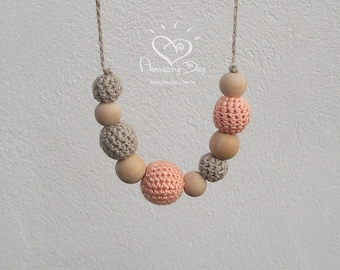 Recycled Necklace Natural Accessory Wood Jewelry Olive Seed Beaded Jewelry Eco Necklace