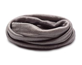 100% Silk Ribbon Elastic - Hand Dyed - Jersey - MUD