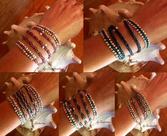 Snake Woven on the loom bracelet friendship alpaca wool hand made twist hand crafted bracelet colourful hippi boho beige blue woven
