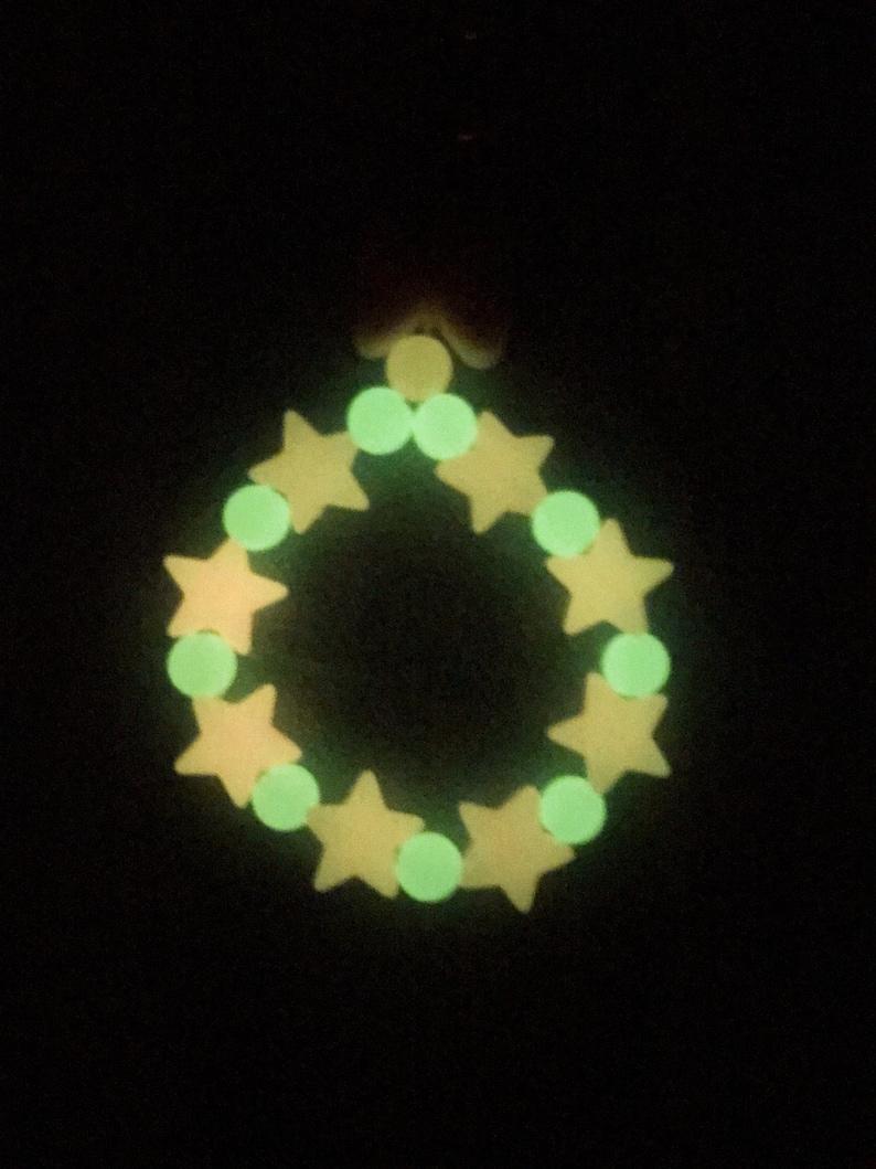 Glow in the dark stretch keychain,glow in the dark star,glow in the dark round ball
