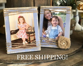 Farmhouse Picture Frame - 4x6 - Rustic Picture Frame- Farmhouse Picture Frame - Standing Frame - Christmas Gift