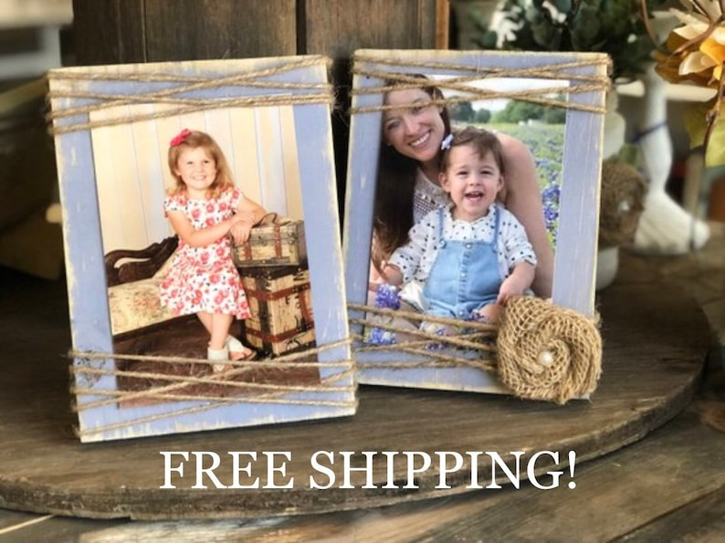 Farmhouse Picture Frame  4x6  Rustic Picture Frame image 0
