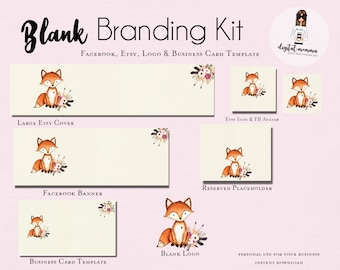 d17e04efe77c7 Blank/DIY Wood Floral Branding Kit Facebook & Etsy Shop | Etsy