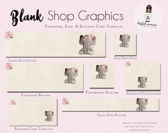 328d6747f9c30 Blank/DIY Rustic Fox Shop Graphics Fox Facebook & Etsy Set | Etsy