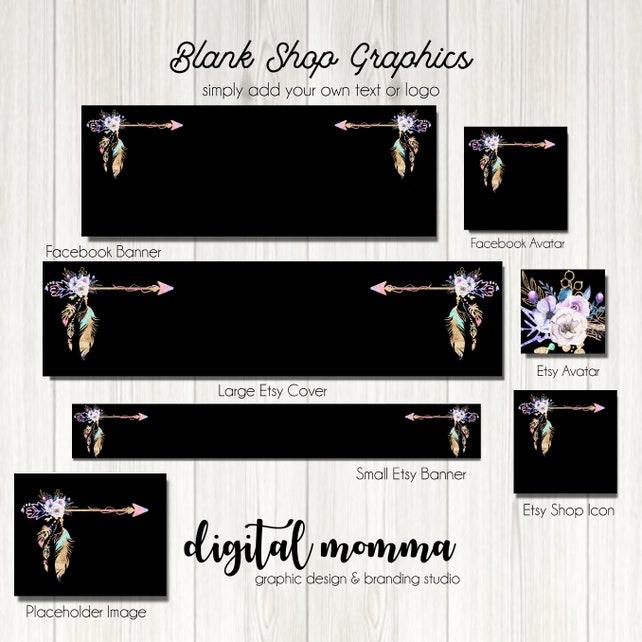 1f30ab3ae42be Blank/DIY Happy Tribe Shop Graphics, Blank Glitter Tribal, Boho ...