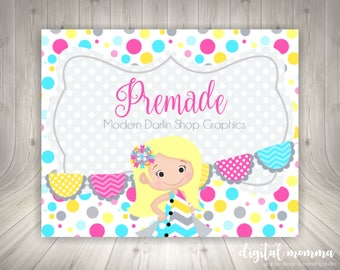 Premade Bright Modern Blonde Darlin Shop Graphics
