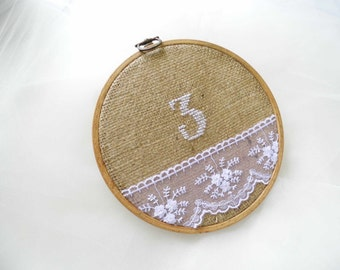 Hoop Embroidery, Wedding Embroidery, Table Number, Wedding Table Plan, Barn Wedding, Table Decoration, Embroidered Number, Wedding Table