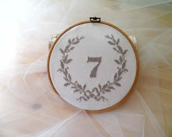 Wedding Table Number, Hoop Embroidery, Hoop Art, Wedding Table Plan, Embroidered Table Number, Rustic Wedding Table, Country Style Wedding