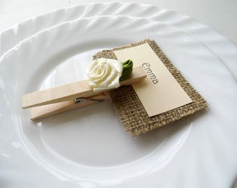 Wedding Place Card, Place Card Holder, Customized Wedding, Country Wedding, Wedding Table, Flower Escort Card, Rustic Place Card, Set of 60