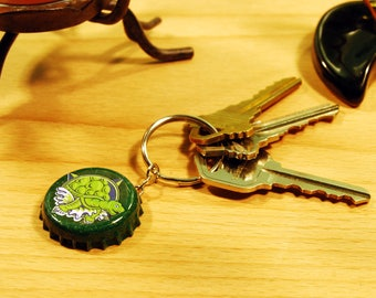 Terrapin Bottle Cap Keychain