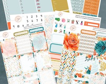 Watercolor Autumn, Planner Sticker Kit Erin Condren, Planner Stickers, Weekly Kit, Fall Stickers, Erin Condren Planner Stickers, ECLP, WK-12