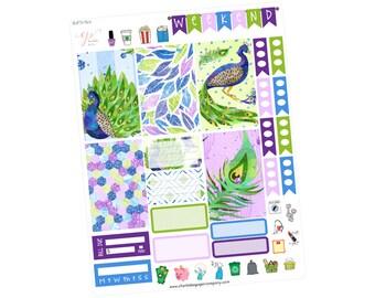 Big Happy Planner Mini Sticker Kit / Planner Stickers / Peacock Sticker Kit / Mini Sticker Kit / Summer Stickers / Purple Kit / BHP74 Mini