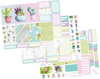Big Happy Planner Stickers / Cactus Stickers / Planner Stickers / Succulent  Planner Stickers / Weekly Sticker Kit / Botanical / BHP75