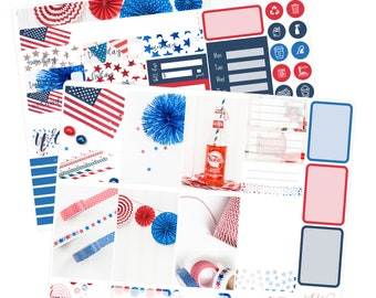 NO COUPONS / Big Happy Planner Stickers / Fourth of July Stickers / Summer Planner Stickers / Weekly Sticker Kit / Photo Kit / PHL5