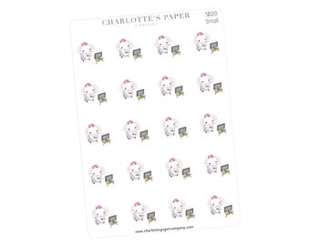 TV Planner Stickers / Planner Stickers / Erin Condren / Happy Planner /Traveler's Notebook / Agenda / Television / Elephant Stickers / SD20