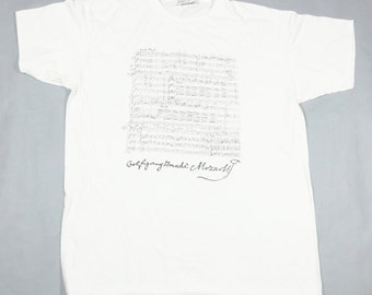 8f64ee2ac348 Vintage Wolfgang Amadeus Mozart T-shirt Size XL Classical Music Tee
