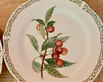 Noritake Royal Orchard Salad Plate, Noritake Primachina, Scalloped Fruit Design, 6 Plates Available Each Sold Separately, French Country