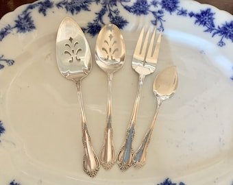 Reserve Natalie jam spoonOneida Community Fredericksburg Silver Pastry Server, Meat Fork, Slotted Tablespoon, Jam Spoon Each Sold Separately