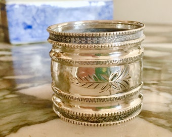 Sterling Silver Napkin Ring, Antique Silver Napkin Ring, Collectible Napkin Ring, Silver Gift Idea,