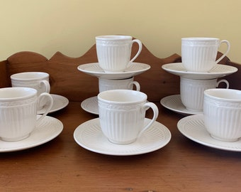 Mikasa Italian Countryside Cup and Saucer, Footed Cup Saucer, Mikasa Tea Cup and Saucer, 8 Available Each Sold Separately, Cottage Farmhouse