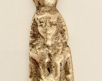 Brass Egyptian Figure Bottle Opener, Vintage Pharaoh Figure Bottle Opener,  Brass Barware, Barware Gift, Man Cave Gift