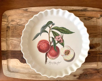 Portmeirion Pie Plate, Grimwoods Royal George Peach Vintage Quiche Tart Plate, English Portmeirion Decorative Pie Plate, Kitchen Shower Gift