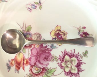 Antique Mustard Spoon, JH Potter English Sheffield Silver, Late 1800's, Antique Silver Plate Condiment Spoon, Holiday Dining, Gift Idea