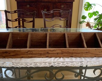 Wooden Cubby, 7 Compartments, Vintage Handmade Utility Storage Cubby,