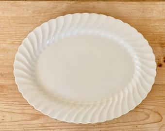 Snowhite Regency Platter, Johnson Brothers 12 Inch White Ironstone Platter, English Ironstone Classic White Platter, Cottage Farmhouse