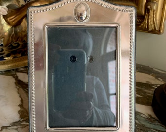 Silver Plate Photo Frame, 3 x 5 Vertical Image Silver Picture Frame, Easel Back, Photo Gift Idea, Silver Gift Idea,