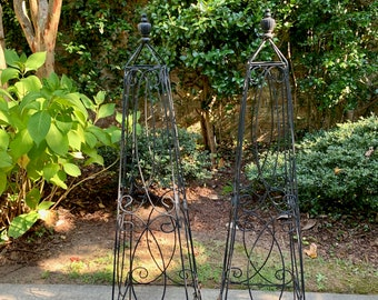 Reserve Christine, Do Not Purchase, Metal Topiary, Tall Black Iron Topiary Stand 48 Inches, 2 Available Each Sold Separately, French Country