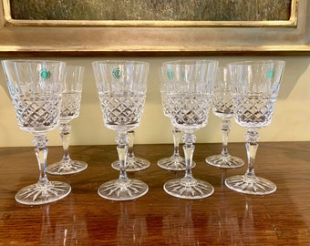 Irish Crystal Water Goblets, Galway Rathmore Set of 8 Irish Crystal Goblets, Excellent Condition, Wedding Bridal Gift, Holiday Dining