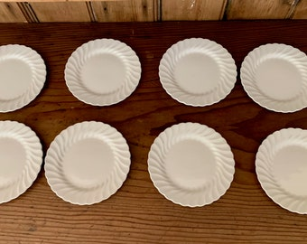 Johnson Brothers Snowhite Regency Bread Butter Plates, Small Dessert Plates, 8 Plates Available Each Sold Separately, Cottage Farmhouse