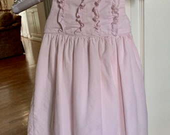 Vintage Child's Pink Jumper, Pink Small Weld Corduroy Jumper with Tie Back, Back to School Dress, Pretty Pink Little Girl's Dress 3T