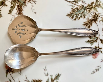 Webster Silver Plate Preserve Spoon, Antique Silver Plate Serving Utensil, Each Sold Separately, Wedding Bridal Gift