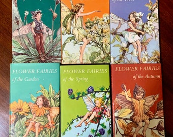 Collection of Fairy Books by Cicely Mary Barker,  6 of 8 Fairy Collections, Sold as Set, Poems for Children, Beautiful Illustrations