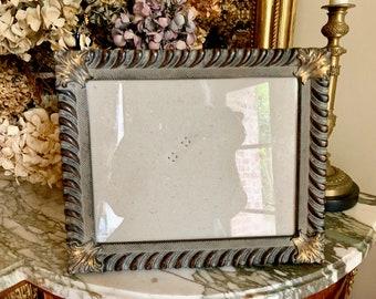 Vintage 8 x 10 Photo Frame, Regency Style Wood Resin Photo Frame, Gadroon Edge with Leaf Corners, Keepsake Photo Frame, Gift Idea