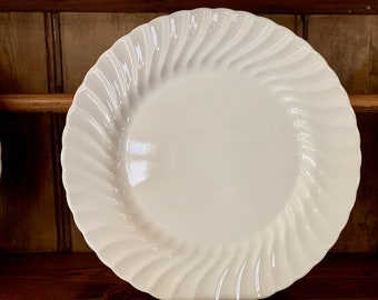 Johnson Brothers Regency White Dinner Plate, 10.5 Inch Large Dinner Plate, 8 Plates Available Each Sold Separately, White English Ironstone