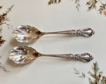 Silver Plate Sugar Sifter, Heritage Silver Plate by 1847 Rogers Brothers, Nut Spoon,  2 Available Each Sold Separately, Hostess Gift,