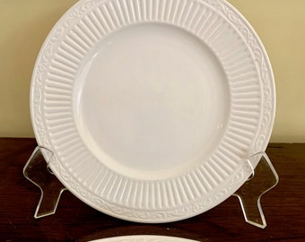 Mikasa Italian Countryside Salad Plate, Classic Creamware with Ribbed Design, 2 Available Each Sold Separately, Farmhouse China