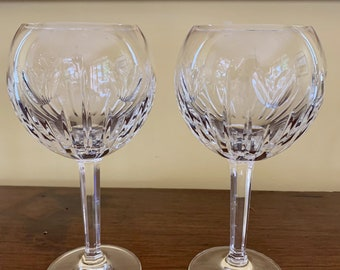 Waterford Millennium Wine Goblets, Pair of Waterford Wine Goblets, Vintage Waterford Crystal Goblets, Wedding Love Toasting Goblets