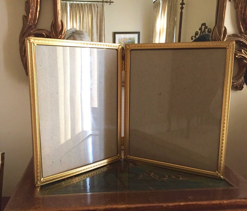 Reserve Theresa Brass Double Hinged Photo Frame 8 X 10 Inch