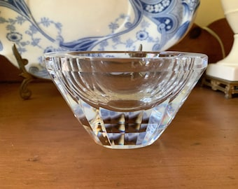 Lenox Crystal Bowl, Elliptical Small Crystal Bowl, Small Accent Bowl, Wedding Bridal Gift, Crystal Gift Idea