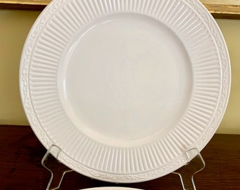 Mikasa Italian Countryside Dinner Plate, 2 Available Each Sold Separately, Cream with Ribs, Large Dinner Plate, Casual China